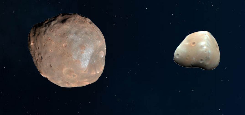 Mars-Monde Phobos und Deimos