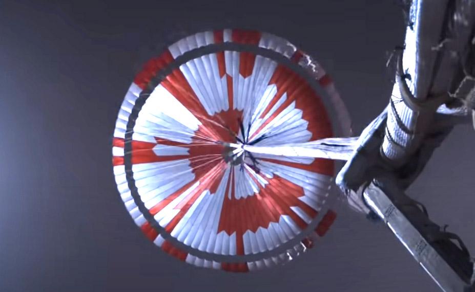 Fallschirm von Perseverance
