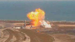 Der Starship Prototyp SN9 explodiert