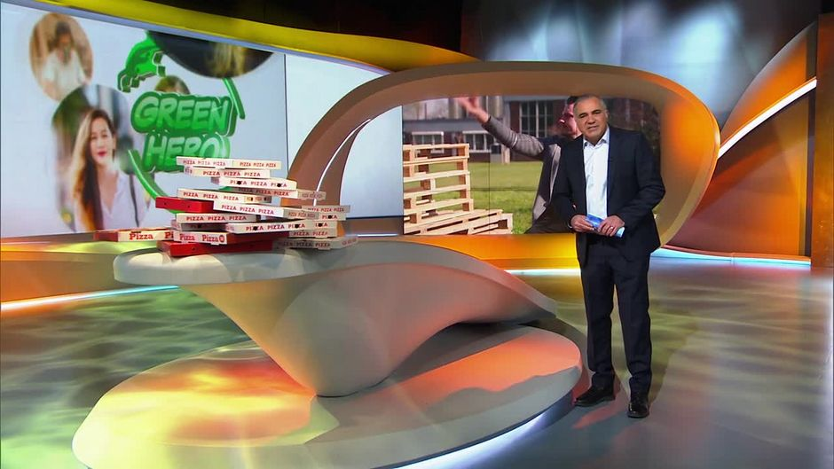 Mittwoch: Greenhero: Pizzakarton ohne Karton