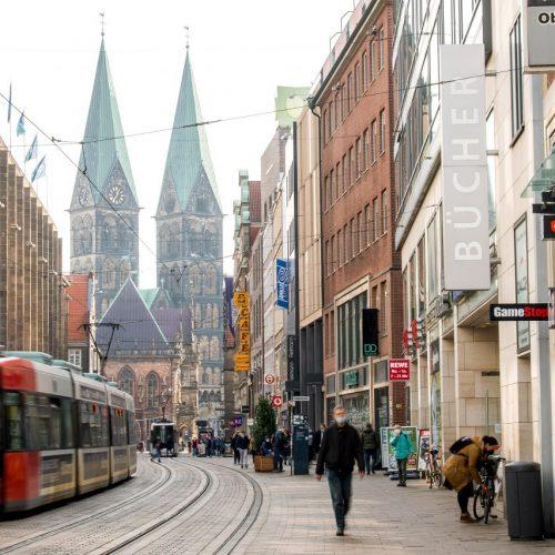 Corona-Lockerungen: Bremen erlaubt ab Montag, 8. März, die Öffnung von Geschäften für einzelne Kund:innen nach Voranmeldung.