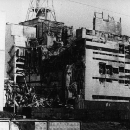 Tschernobyl Reaktor 4 nach der Explosion 1986
