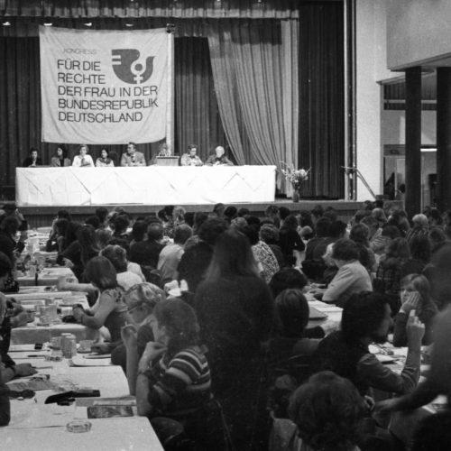 Historisches Bild: Frauenkongress 1975 in Köln