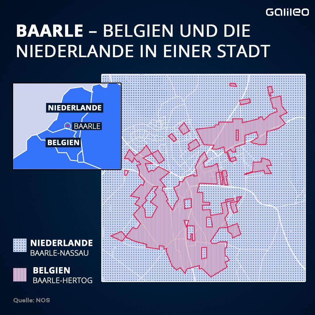 Grenzen in Baarle zwischen Belgien und Niederlande