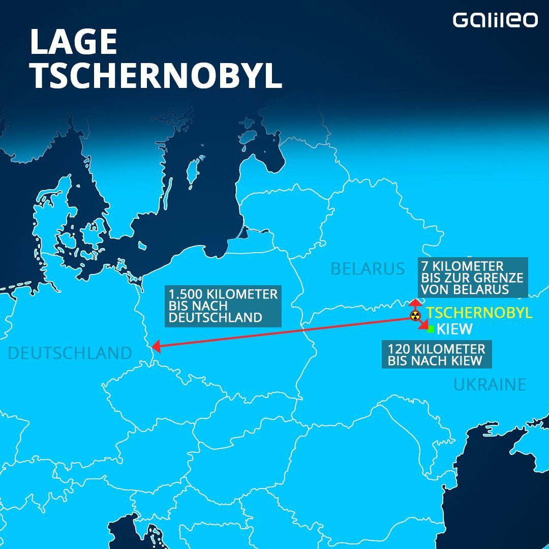 Lage Tschernobyl
