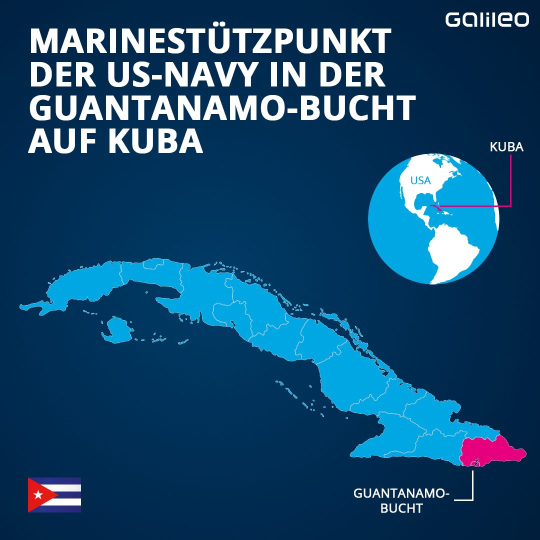 Marinestützpunkt der US-Navy in der Guantanamo-Bucht auf Kuba