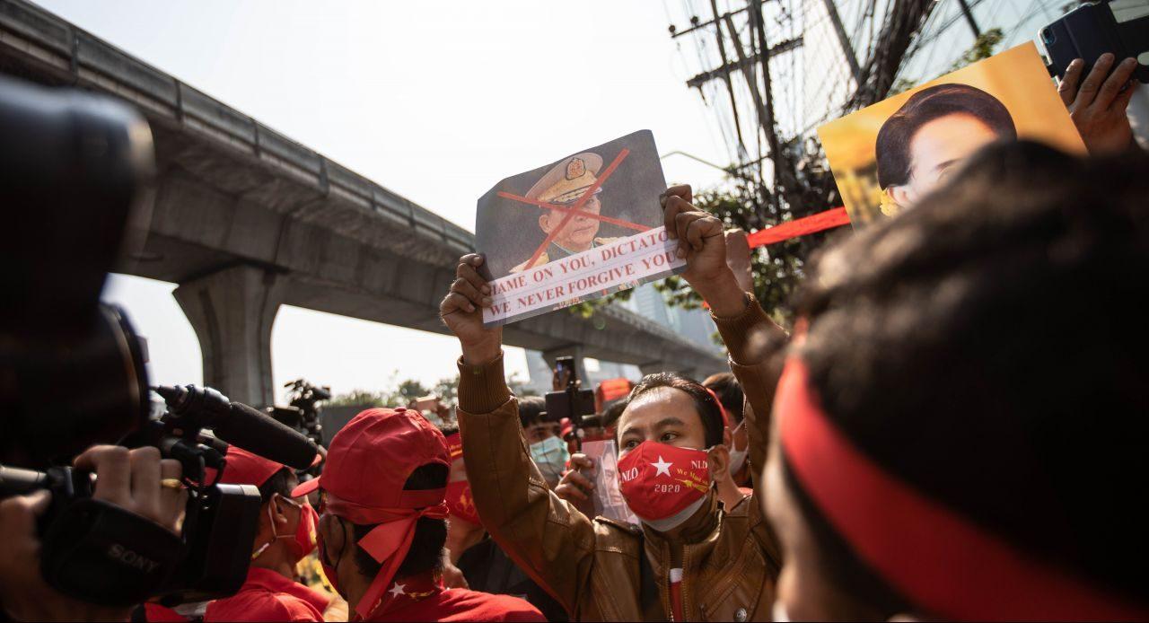 Proteste in Myanmar gegen die Militärdiktatur