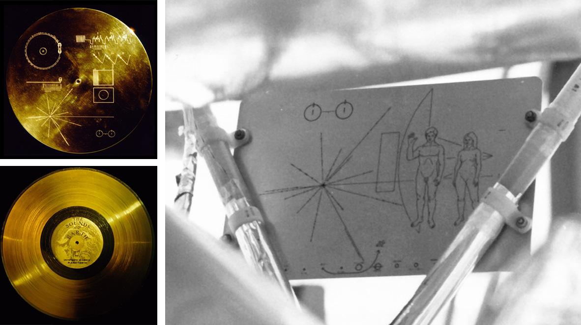 Botschaft an die Aliens: Plakette in Raumsonde Pioneer 10 und Voyager