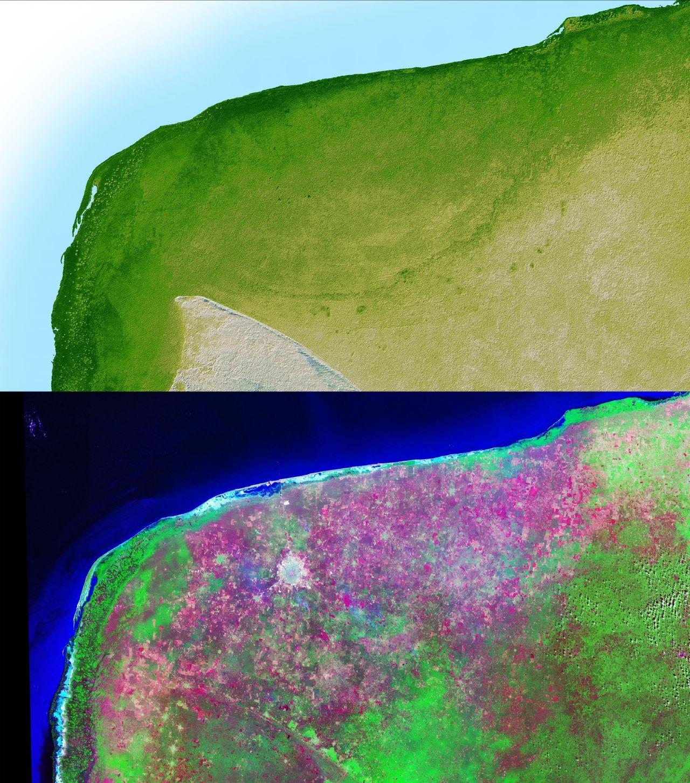 Chicxulub-Krater auf der Halbinsel Yucatán in Mexiko