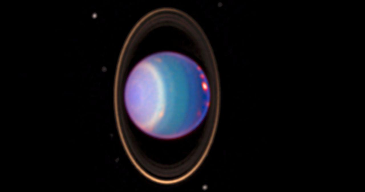 Uranus mit Ringen