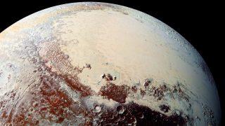 Pluto, fotografiert von der NASA-Raumsonde New Horizons