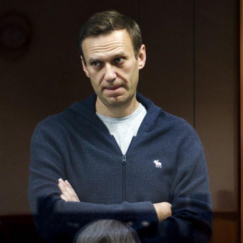 Alexej Nawalny März 2021 vor dem Bezirksgericht Babuskinsky.