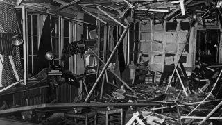 Der Führerbunker nach dem Anschlag von Claus Schenk Graf von Stauffenberg 1944