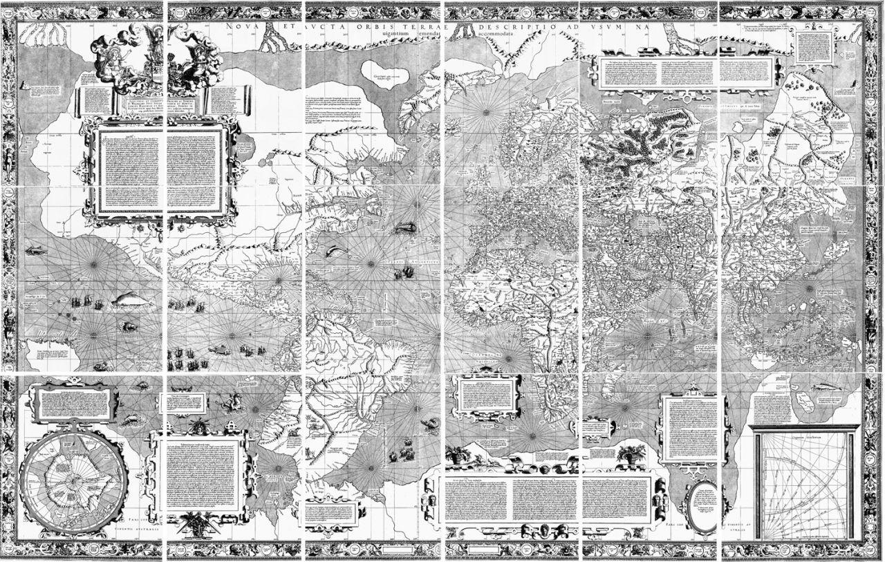 Weltkarte Mercator-Projektion der Welt von 1569