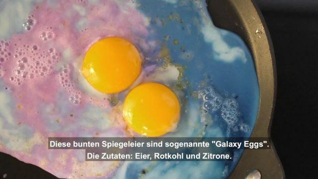 So machst du bunte Galaxy Eggs