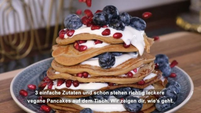 Vegane Pancakes aus drei Zutaten