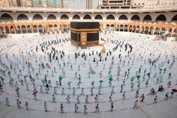 Umrundung Kaaba während Corona
