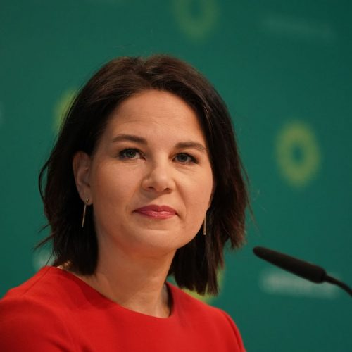 Annalena Baerbock bei einer Pressekonferenz im März 2021