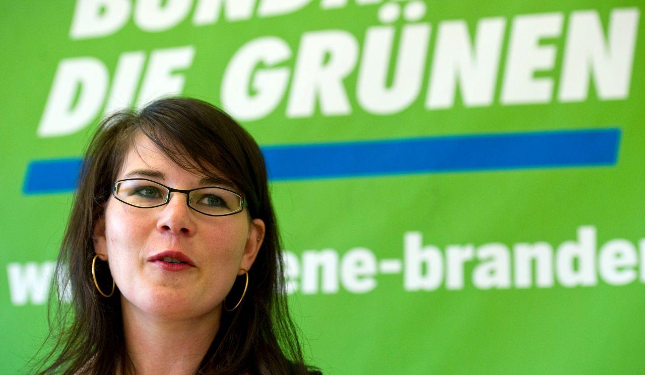 Annalena Baerbock als Landesvorsitzende der Grünen in Brandenburg 2011
