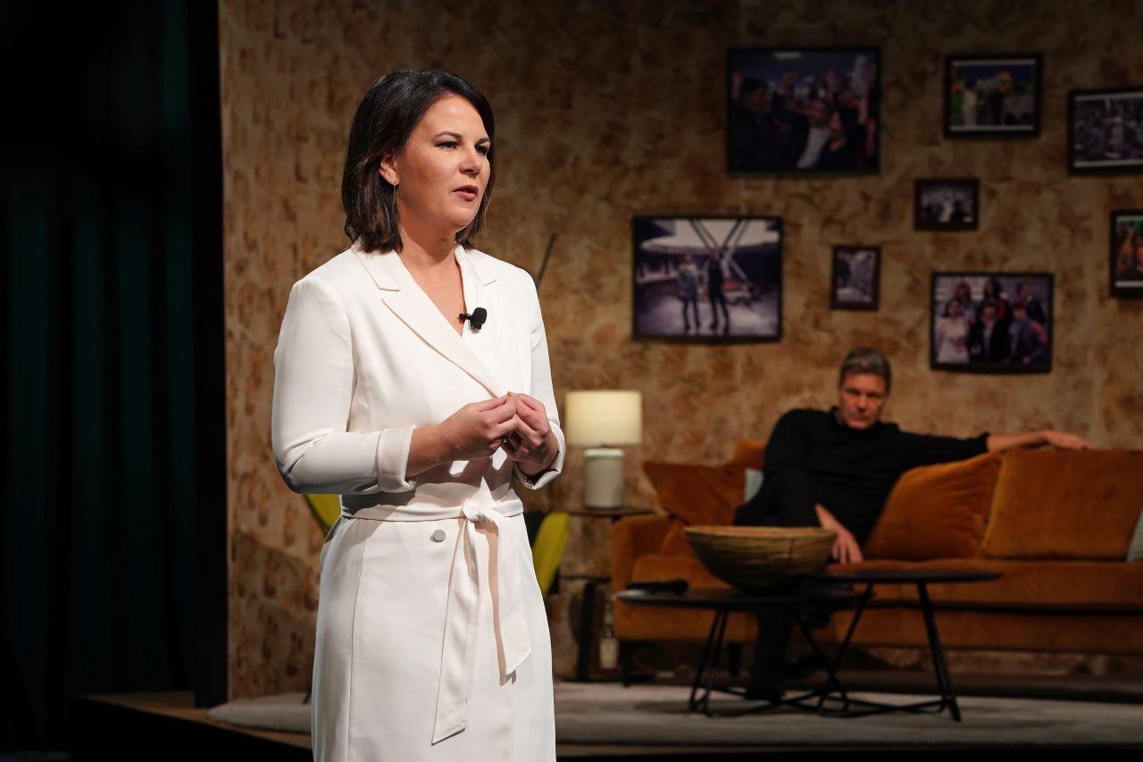 Annalena Baerbock beim virtuellen Bundesparteitag der Grünen im November 2020