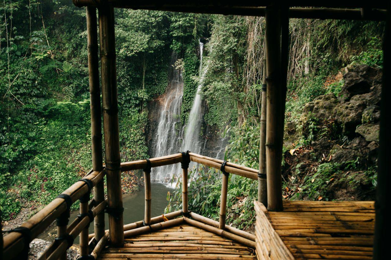 Bambus-Hütte im Urwald