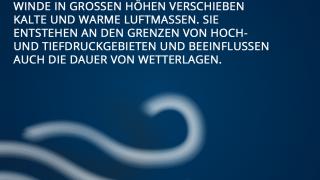 Einflussfaktoren auf das Wetter in Deutschland - der Jetstream