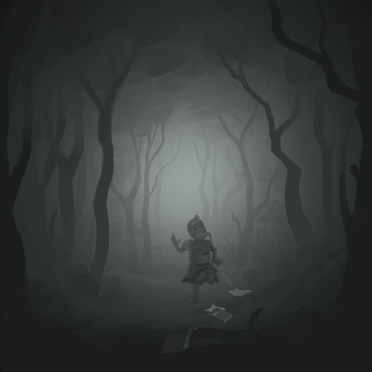 Mädchen verschwindet im Wald