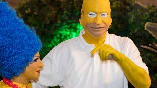 Markus Söder bei Fastnacht in Franken 2017 als Homer Simpson