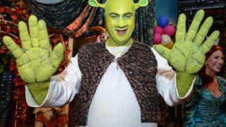 Markus Söder bei Fastnacht in Franken 2014 als Shrek