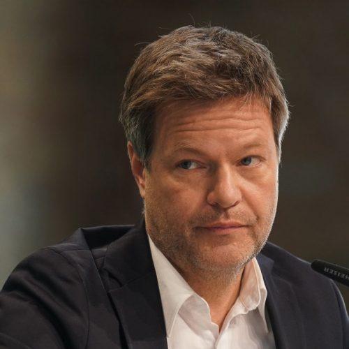 Robert Habeck bei einer Pressekonferenz im März 2021