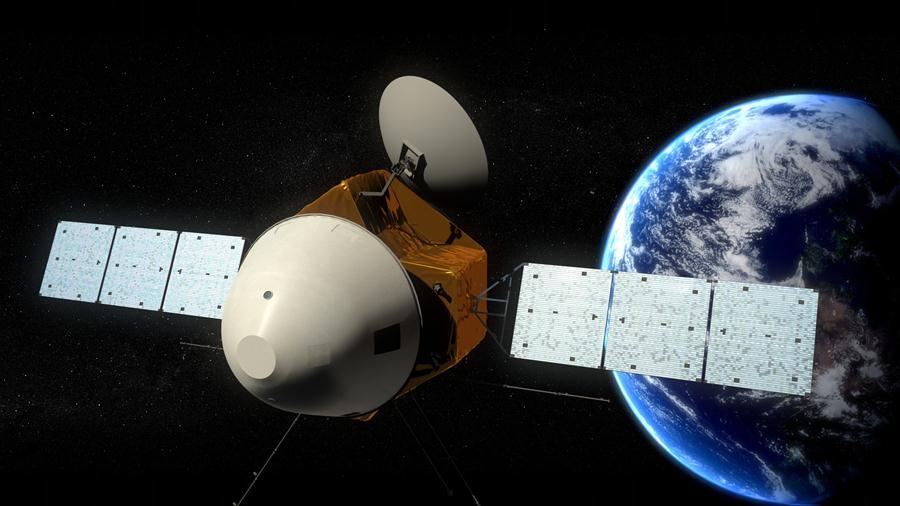 Tianwen-1-Sonde nach dem Start