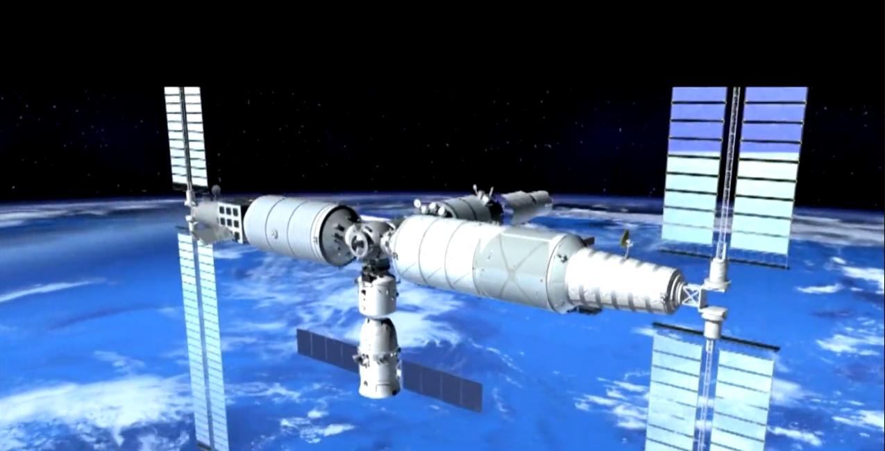 Die neue chinesische Raumstation Himmelspalast