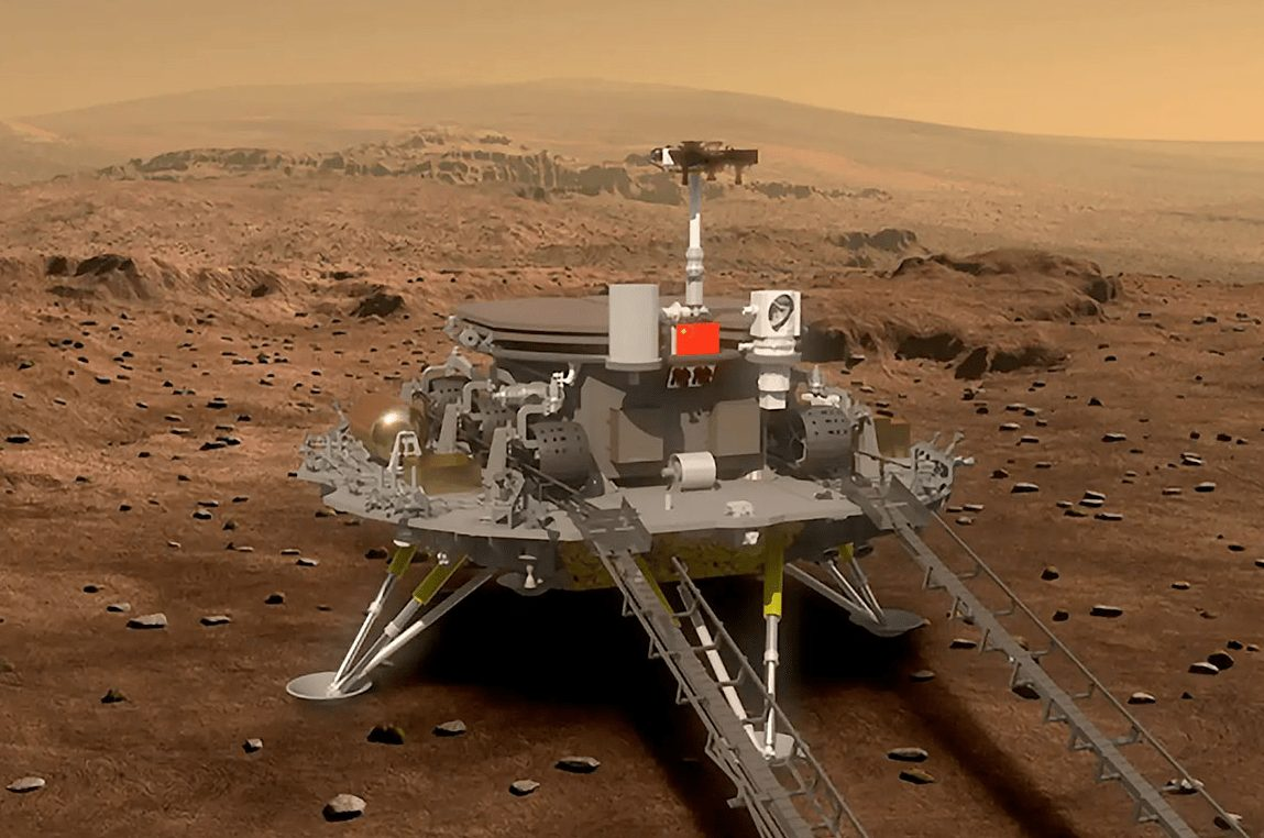 Tianwen-1 auf dem Mars