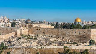 Die Altstadt Jerusalems mit der Al-Aqsa-Moschee und dem Felsendom.