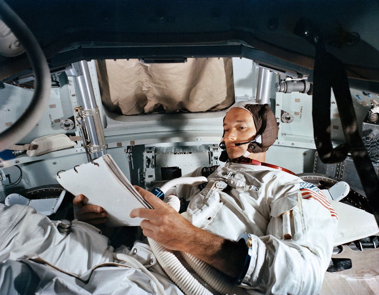 Im Inneren der Apollo-Mond-Kapsel