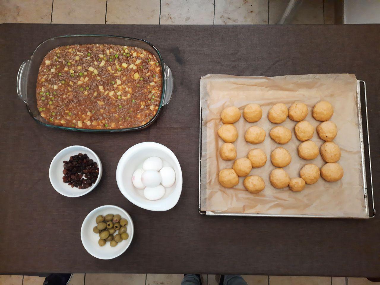 Zubereitung Füllung Salteñas