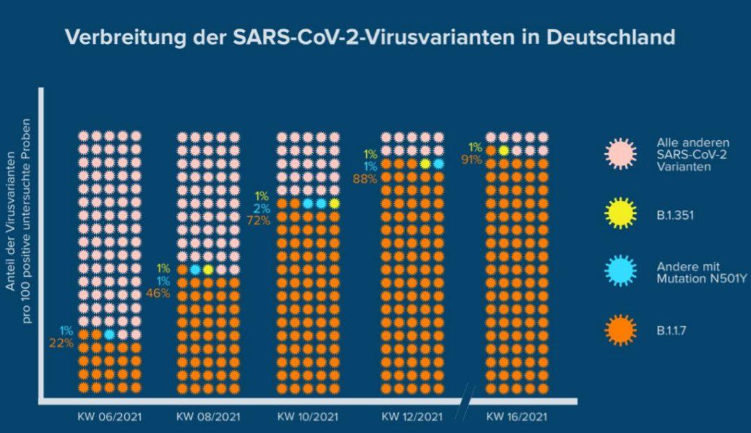 Verbreitung der Corona-Virus-Mutationen