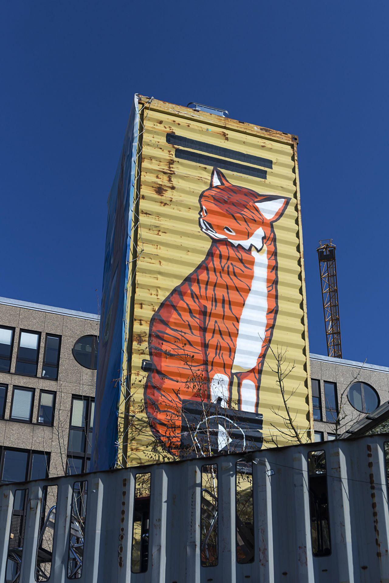 Bemalter Container in München