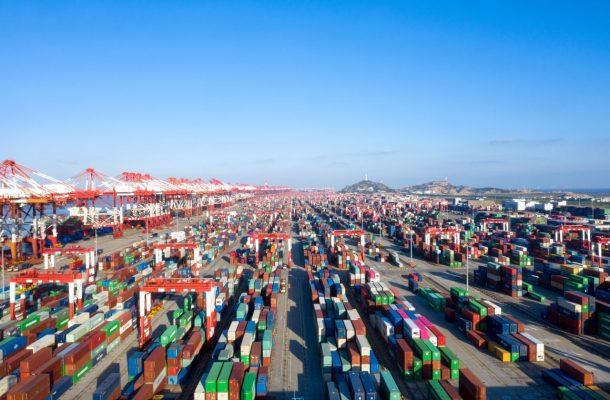 Container-Hafen Shanghai