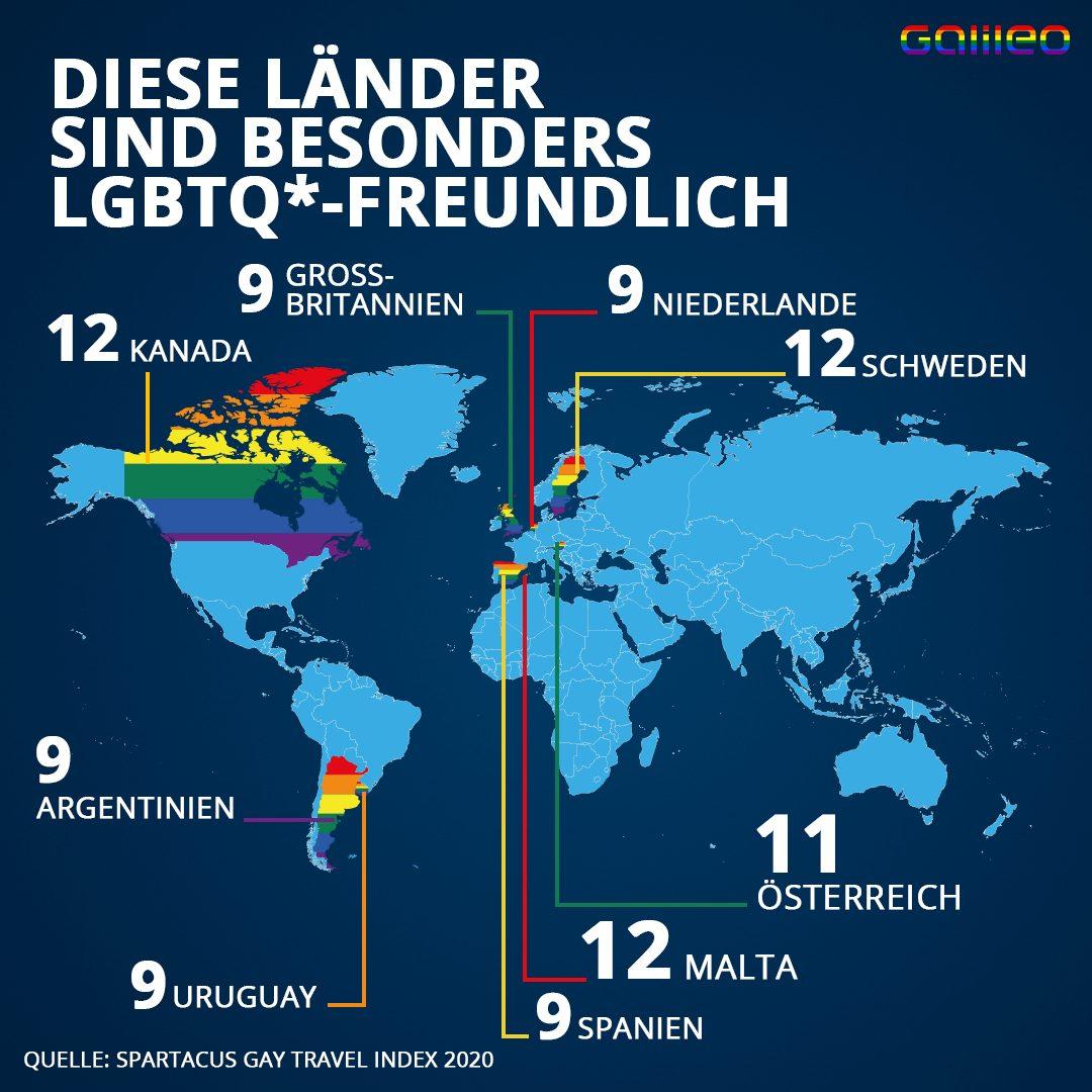 Diese Länder sind LGBTQ*-freundlich