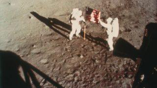 Mondlandung Verschwörung Fahne