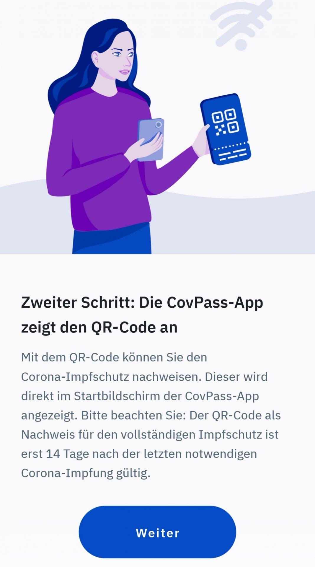 Danach taucht der Nachweis direkt auf dem Startbildschirm der App auf.