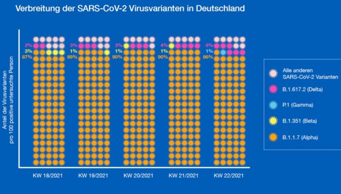Verbreitung der Corona-Virus-Varianten