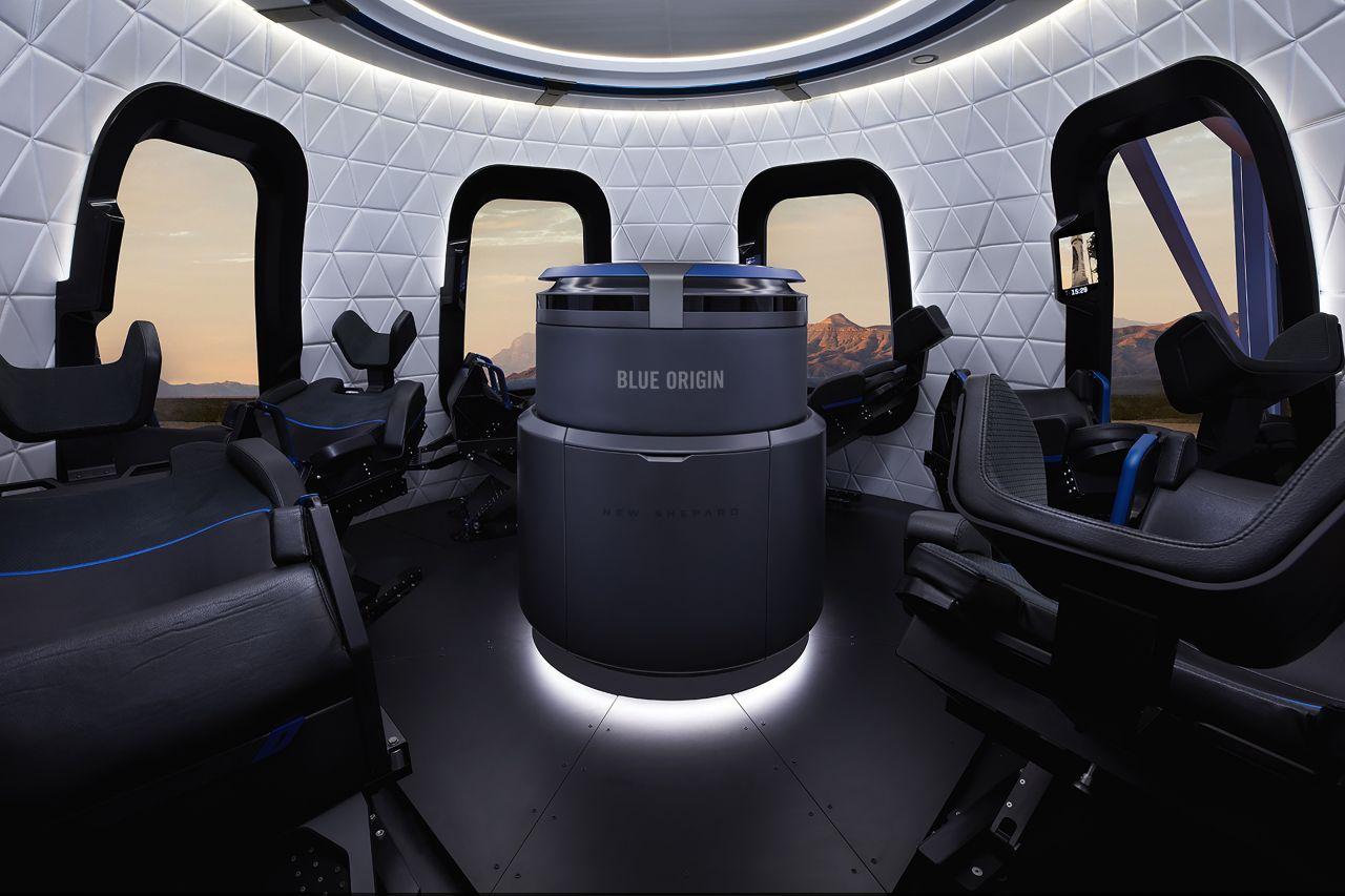 Das Innere der NewShepard-Kapsel