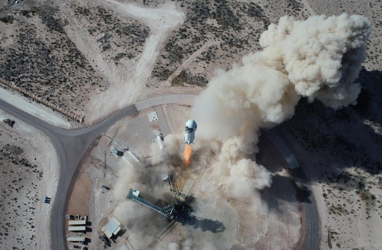 Die NewShepard-Rakete startet zum Testflug im Januar 2021
