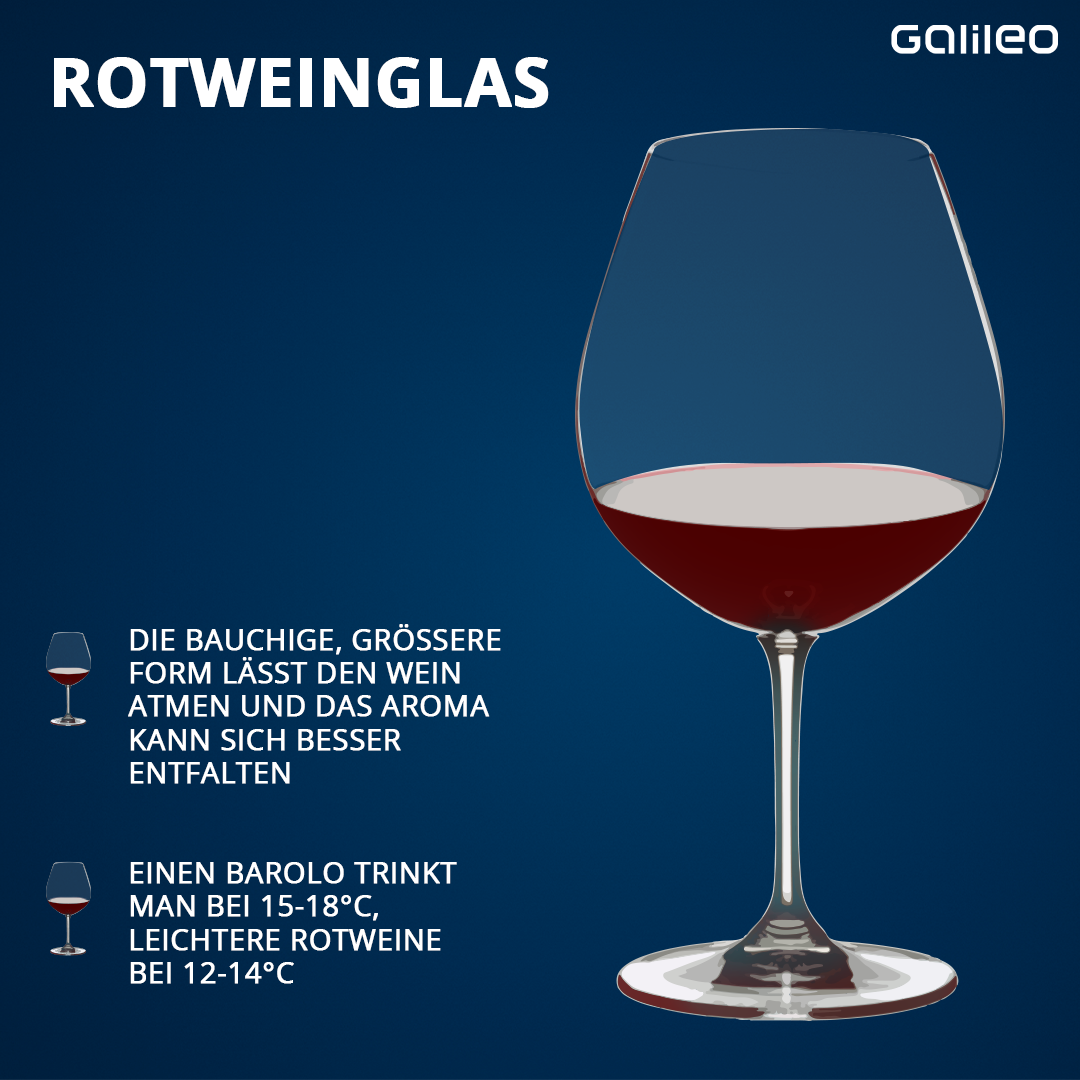 Übersicht Grafik Gläser Rotweinglas