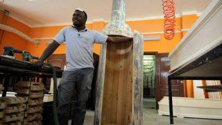 Außergewöhnlicher Sarg aus Ghana