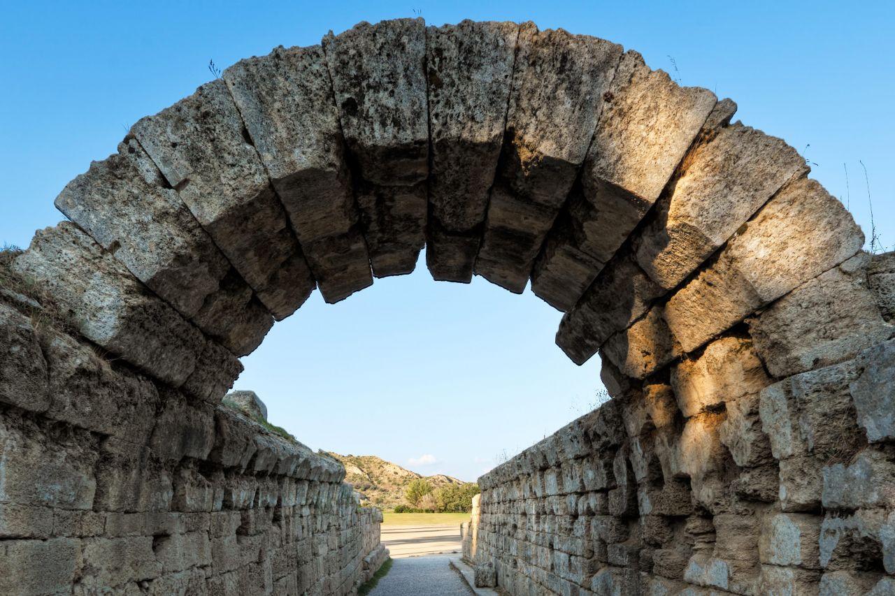 Olympische Spiele Antike Stadion