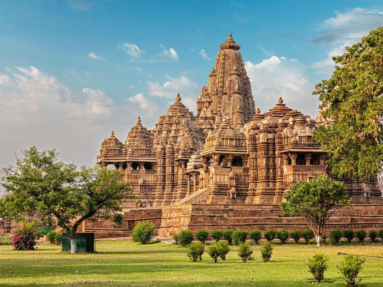 Großer hinduistischer Tempel in Indien