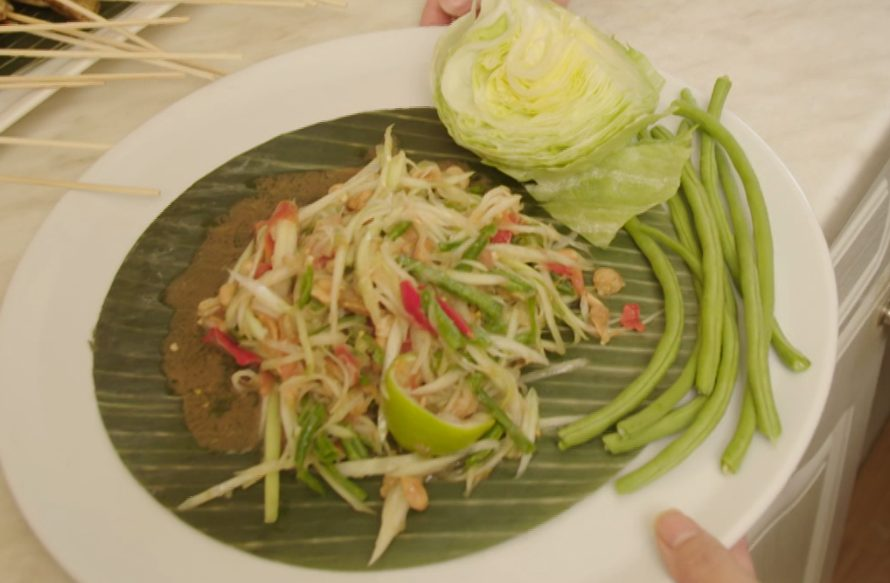 Papayasalat aus Thailand